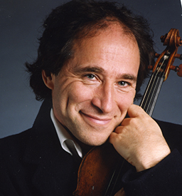 Head Shot of Marc Destrubé holding his violin