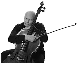 Philip Hanson holding Cello