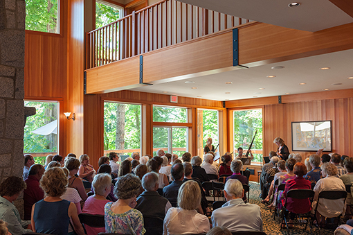 Audience and Musicians at Quadra Island Community Centre